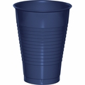 Navy Blue Plastic Cups 12 oz. Solid 240ct