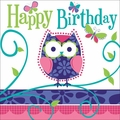 Owl Pal Birthday 3 Ply Happy Birthday Lunch Napkins 192ct