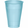 Pastel Blue Plastic Cups 12 oz. Solid 240ct