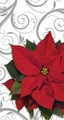 Poinsettia Swirls 3 Ply Guest Napkins 192ct