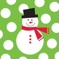 Snowman Dots 2 Ply Beverage Napkins Big Value 1200ct