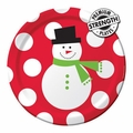"Snowman Dots 9"" Dinner Plates Big Value 600ct"