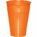 Sunkissed Orange Plastic Cups 12 oz. Solid 240ct