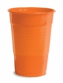 Sunkissed Orange Plastic Cups 16oz Solid Bulk 600ct