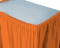 Sunkissed Orange Plastic Tableskirt 14' Solid 6ct