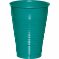Tropical Teal Plastic Cups 12 oz. Solid 240ct