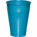 Turquoise Plastic Cups 12 oz. Solid 240ct