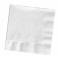 White Dinner Napkin 3 Ply 1/4 Fold Solid 250ct
