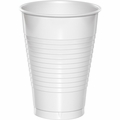 White Plastic Cups 12 oz. Solid 240ct