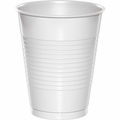 White Plastic Cups 16oz Solid Bulk 600ct