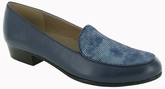 Mallory Navy Kid & Printed Suede by Munro