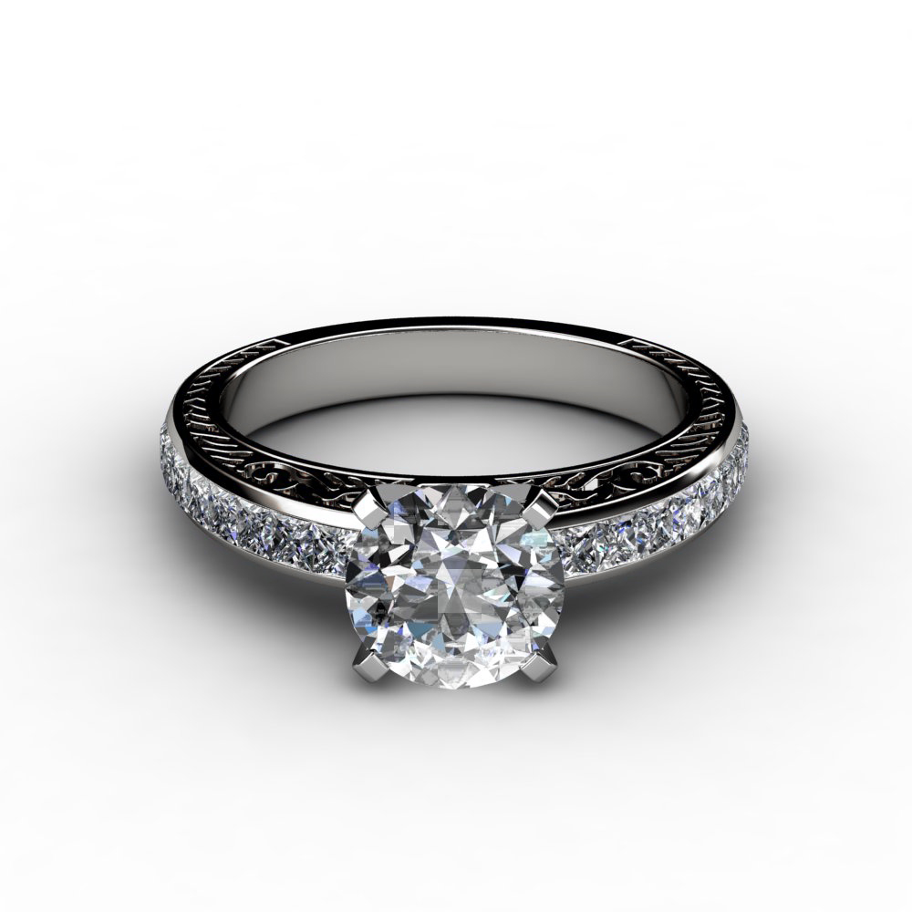 Princess Cut Engagement Rings Princess Cut Antique Engagement Rings