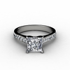 Princess Cut Engagement Rings with Side Diamonds
