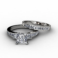 Princess Cut Bridal Sets
