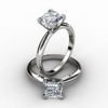 Princess Cut Diamond Solitaire Rings