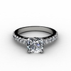 Round Cut Engagement Rings with Side Diamonds