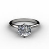 Round Cut Solitaire Engagement Rings