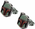 Star Wars Boba Fett Helmet Enamel Stud Earrings