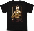 Star Wars C 3PO Foil T Shirt