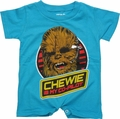 Star Wars Chewie Co Pilot Romper Snap Suit