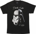 Star Wars Dark Side Split Helmet T Shirt