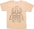 Star Wars Darth Sketch Beige Youth T Shirt