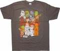 Star Wars Lego Cast Distressed T Shirt Sheer