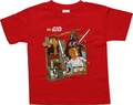 Star Wars Lego Good Evil Red Juvenile T Shirt