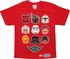 Star Wars Lego Heads Red Youth T Shirt
