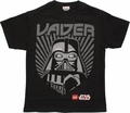 Star Wars Lego Vader Rays Youth T Shirt