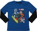 Star Wars Lego Yoda Center Long Sleeve Juvenile T Shirt