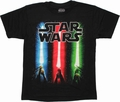 Star Wars Lightsaber Trio Youth T Shirt