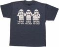 Star Wars No Jedi Trooper Trio Youth T Shirt