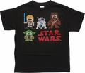 Star Wars Pixel Quad Name Youth T Shirt
