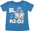 Star Wars R is For R2-D2 Toddler T-Shirt