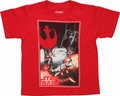 Star Wars Rebel Fighter Frame Juvenile T Shirt