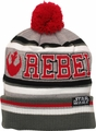 Star Wars Rebel Striped Cuffed Pom Beanie