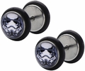 Star Wars Stormtrooper Helmet Screw Back Earrings