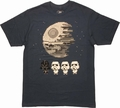Star Wars Tiny Death Star Conga Vader T Shirt Sheer