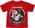 Star Wars Trooper Helmet Drawing Juvenile T Shirt