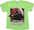 Star Wars Vader Death Star Juvenile T Shirt