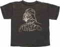 Star Wars Vader Lined Burnout Juvenile T Shirt