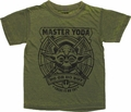 Star Wars Yoda Circle Burnout Juvenile T Shirt