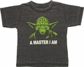 Star Wars Yoda Master Burnout Toddler T Shirt