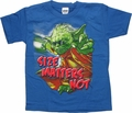 Star Wars Yoda Size Not Blue Juvenile T Shirt