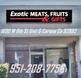 <B><strong>EXOTIC MEATS </B></strong>& FRUITS  <B><strong>MARKET </B></strong>