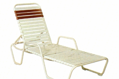 73346-OAL Commercial Strap Chaise Lounge