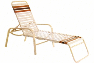 73347-OAL Commercial Strap Chaise Lounge