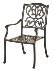The Burkley Collection Commercial Cast Aluminum Stationary Dining Chair