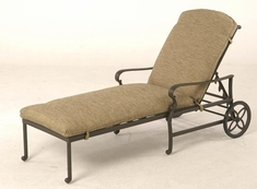The Alexis Collection Commercial Cast Aluminum Chaise Lounge